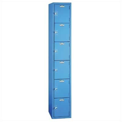 Lyon Workspace Products Quiet Door Locker - Six Tiers - 1 Section - No Legs or Louvers (Unassembled)