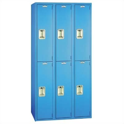 Lyon Workspace Products Quiet Door Locker - Double Tier - 3 Sections - No Legs or Louvers (Unassembled)