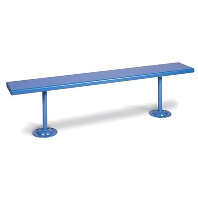 Lyon Workspace Products Plastic Laminate Locker Room Bench on Steel Pedestals