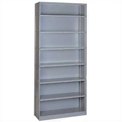 Lyon Workspace Products Sliding Shelf Shelving - 7 Opening Unit