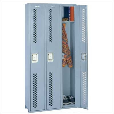 Lyon Workspace Products Integrated Frame All Welded Locker - Single Tier - 3 Sections