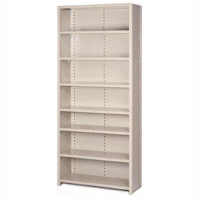 Lyon Workspace Products 8000 Series Closed Shelving - 8 Shelves: 84&quot; H x 48&quot; W x 12&quot; D