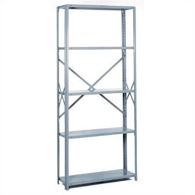"Lyon Workspace Products 8000 Series: Open Offset Angle Shelving (Medium-Duty): 84"" H x 36"" W x 24"" D"