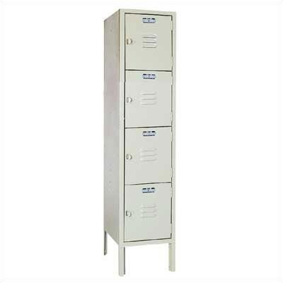 Lyon Workspace Products Four Tier Locker - 1 Section (Unassembled)