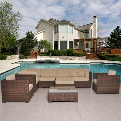 International Home Miami Southampton 9 Piece Seating Group with Cushions