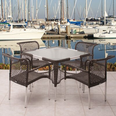 International Home Miami Soho 5 Piece Dining Set