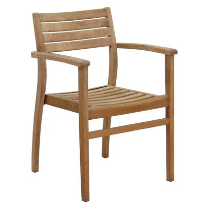 International Home Miami Canberra Stacking Dining Arm Chairs (Set of 2)