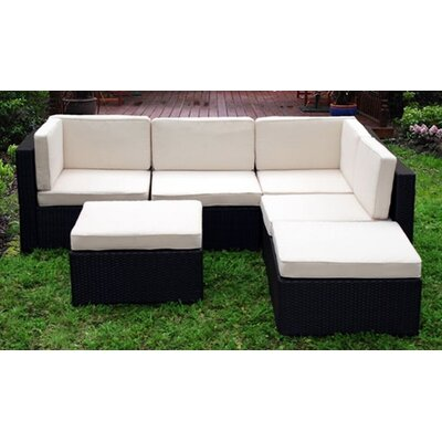 International Home Miami Montecarlo Sectional Sofa with Cushions