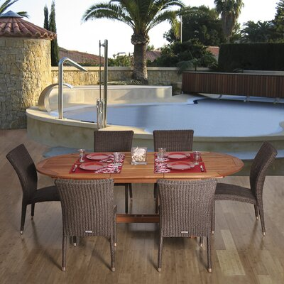 International Home Miami Atlantic 7 Piece Dining Set