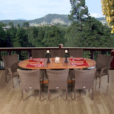 International Home Miami Atlantic 9 Piece Dining Set
