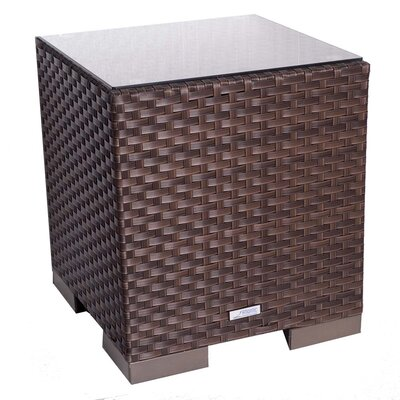 International Home Miami Aventura Wicker Side Table