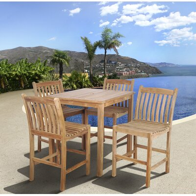 Amazonia Teak Oregon 5 Piece Bar Set