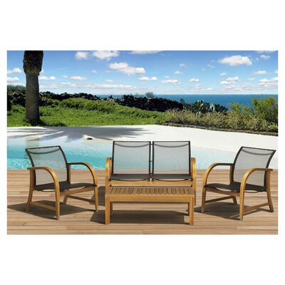 <strong>International Home Miami</strong> Amazonia Jersey 4 Piece Deep Seating Group