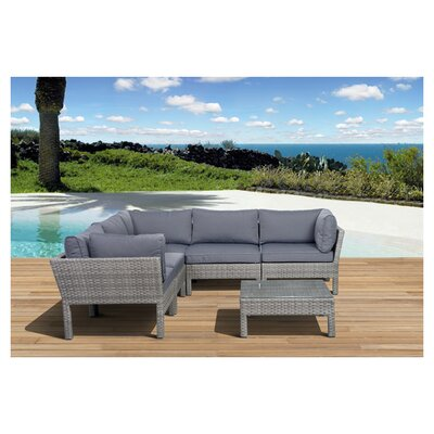Atlantic 6 Piece Deep Seating Group with Cushion