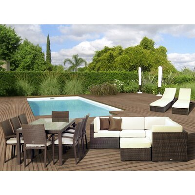 <strong>International Home Miami</strong> Atlantic 17 Piece Deep Seating Group with Cushions