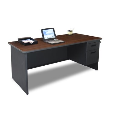 "Marvel Office Furniture Pronto 66"" Single Pedestal Computer Desk"