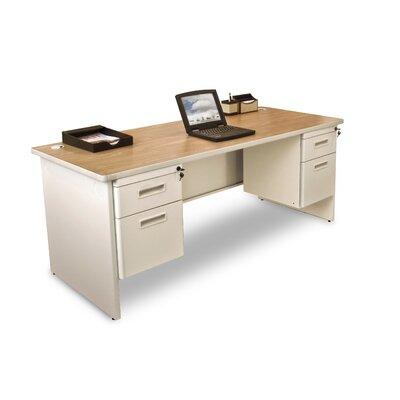 Marvel Office Furniture Pronto Double Pedestal Computer Desk