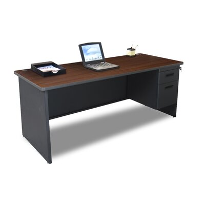 "Marvel Office Furniture Pronto 72"" Single Pedestal Computer Desk"