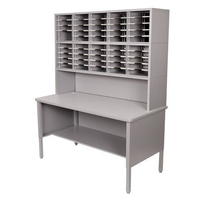 Marvel Office Furniture 50 Adjustable Slot Literature Organizer with Riser