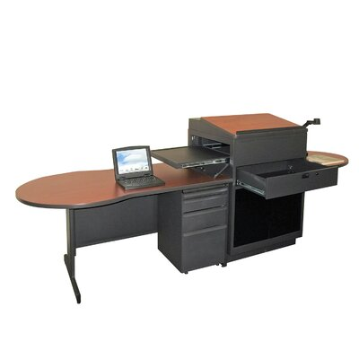 Marvel Office Furniture Zapf Office Support Teacher's Desk with Acrylic Door