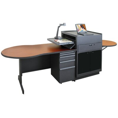 Marvel Office Furniture Zapf Office Support Instructor's Desk with Acrylic Door