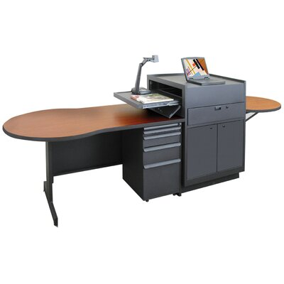 Marvel Office Furniture Zapf Office Support Instructor's Desk with Steel Door