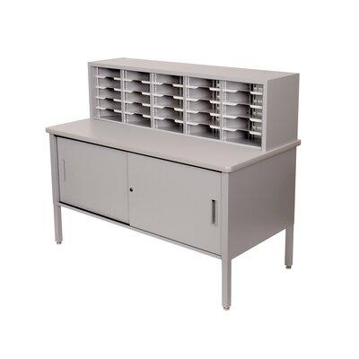 Marvel Office Furniture 25 Adjustable Slot Literature Organizer with Cabinet