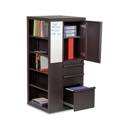 "Marvel Office Furniture Ensemble 24"" Personal Left Storage Shelf Tower"