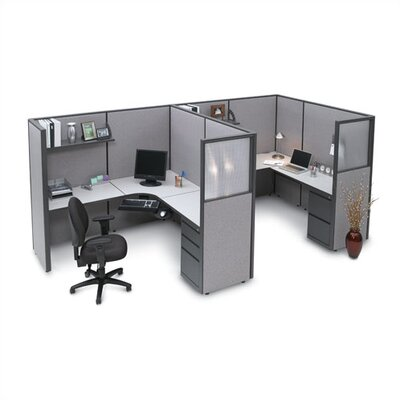 Storlie Two Person L-Shape Desk Office Suite