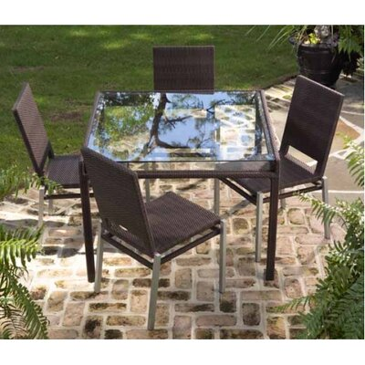 Whitecraft All-Weather Pacific 5 Piece Square Dining Set