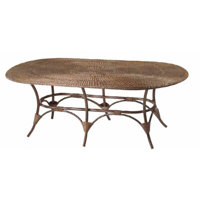 Whitecraft WickerLoom Oval Table with Glass Top