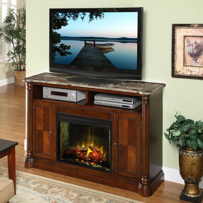 "Legends Furniture Monte Carlo 60"" TV Stand with Electric Fireplace"