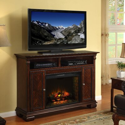 franklin tv stand with electric fireplace wayfair