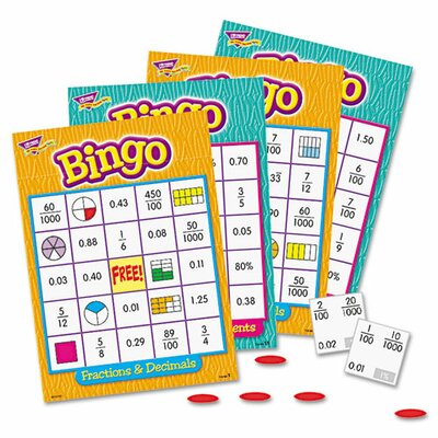 Fractions Bingo Game