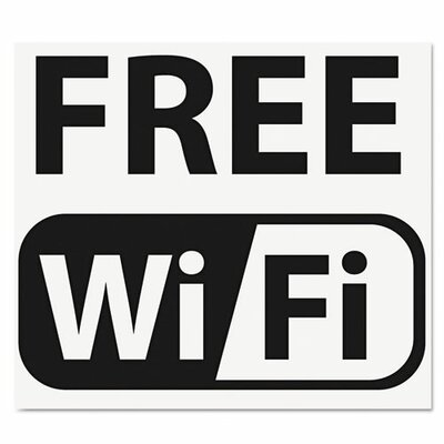 U.S Stamp & Sign Self-Stick Free Wi-Fi-Sign