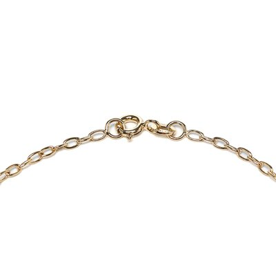 Sterling Essentials 14k Gold over Silver Dangling Heart Anklet