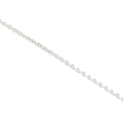 Sterling Essentials Sterling Silver 16 inches Cable Chain Necklace