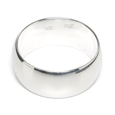 <strong>Sterling Essentials</strong> Sterling Silver 9-mm Wedding Band