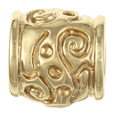 Sterling Essentials Signature Moments Gold over Silver Scroll Bali Bead