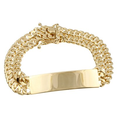 14k Gold over Silver Children's ID Bracelet