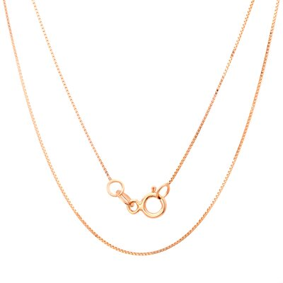 Sterling Essentials 14K Gold Box Chain Necklace