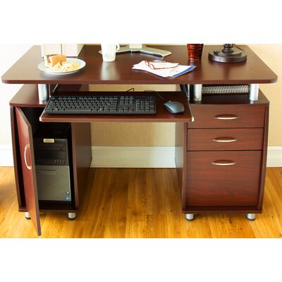 Castleton Home Three Drawer Computer Desk