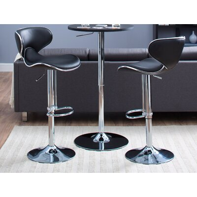 Castleton Home Oxbow Estate Airlift Barstool in Black