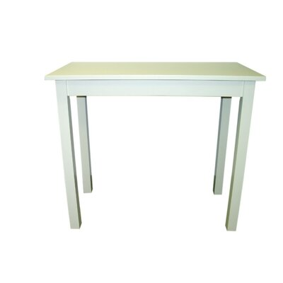 Tavern Pub Table in Antique Milk White