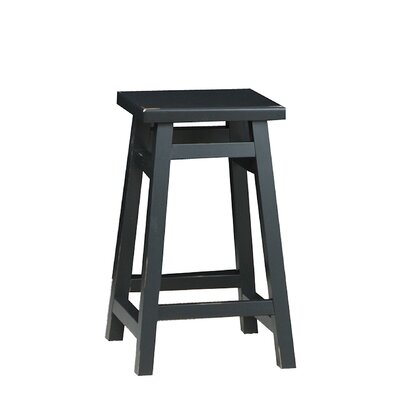 Carolina Cottage O'Malley Pub Counter Stool in Antique Black