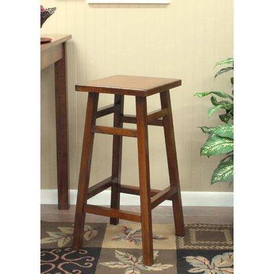 Carolina Cottage O'Malley Pub Bar Stool in Walnut
