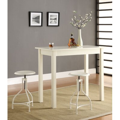 Carolina Cottage Café Bar Table with Logan Adjustable Stools