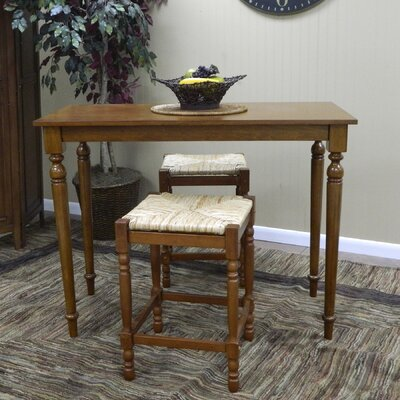 Carolina Cottage Hawthorne Pub Table in Walnut