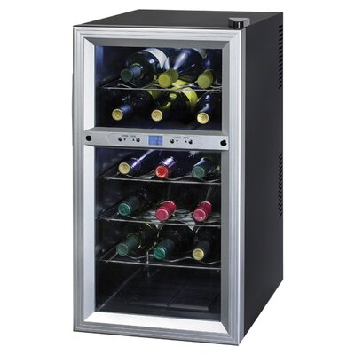 Kalorik Contemporary 18 Bottle Dual Zone Thermoelectric Wine Refrigerator