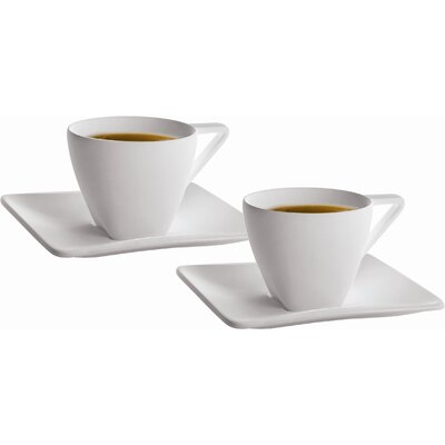 DeaGourmet Iside Espresso Cup and Saucer (Set of 4)